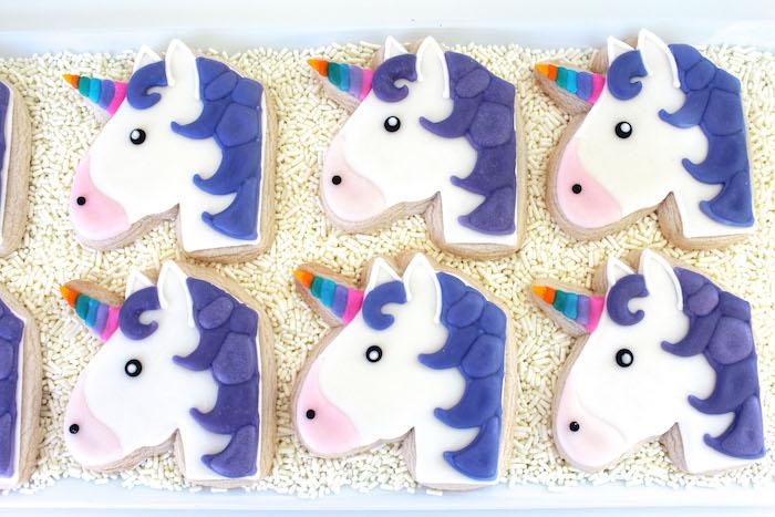 Emoji unicorn cookies from an Emoji Birthday Party on Kara's Party Ideas   KarasPartyIdeas.com (6)