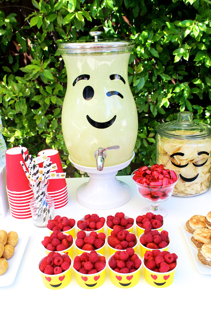 Emoji beverage dispenser from an Emoji Birthday Party on Kara's Party Ideas | KarasPartyIdeas.com (38)