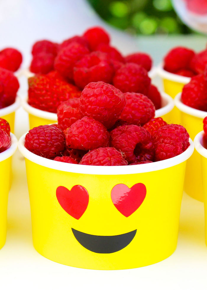 Emoji berry cup from an Emoji Birthday Party on Kara's Party Ideas | KarasPartyIdeas.com (37)
