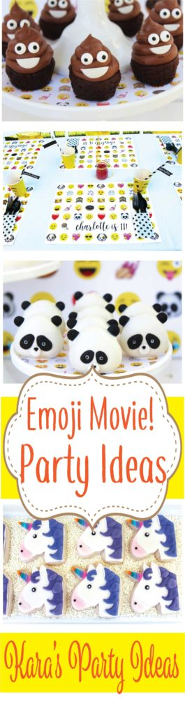 Emoji Movie Party Ideas via Kara's Party Ideas