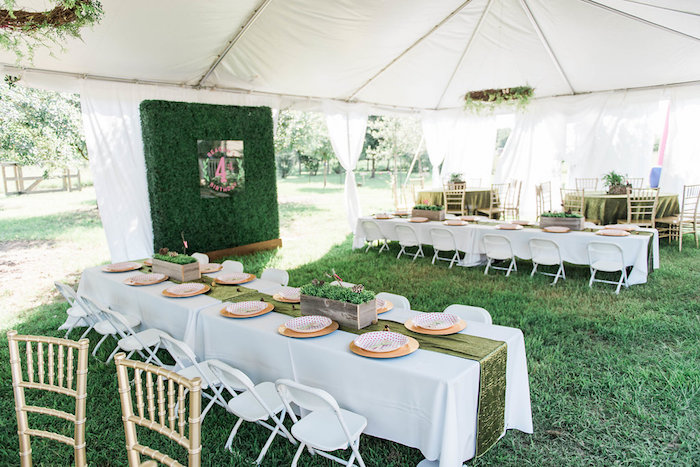 Guest tables from an Enchanted FOURest Birthday Party on Kara's Party Ideas | KarasPartyIdeas.com (47)