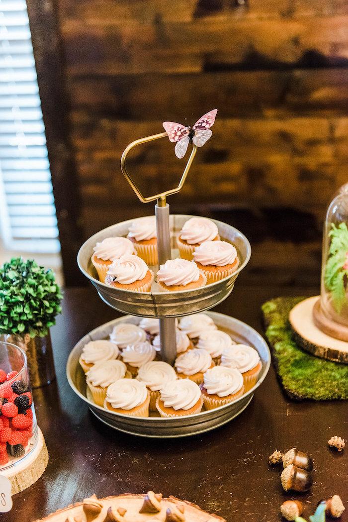 Cupcakes from an Enchanted FOURest Birthday Party on Kara's Party Ideas | KarasPartyIdeas.com (34)