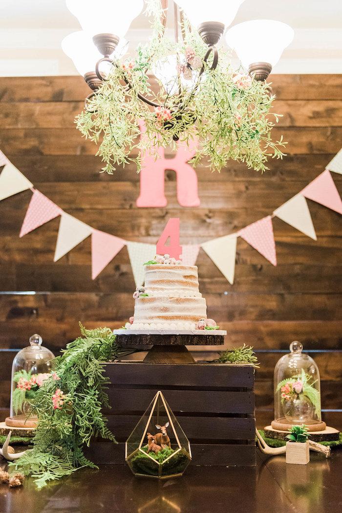 Cakescape from an Enchanted FOURest Birthday Party on Kara's Party Ideas | KarasPartyIdeas.com (31)