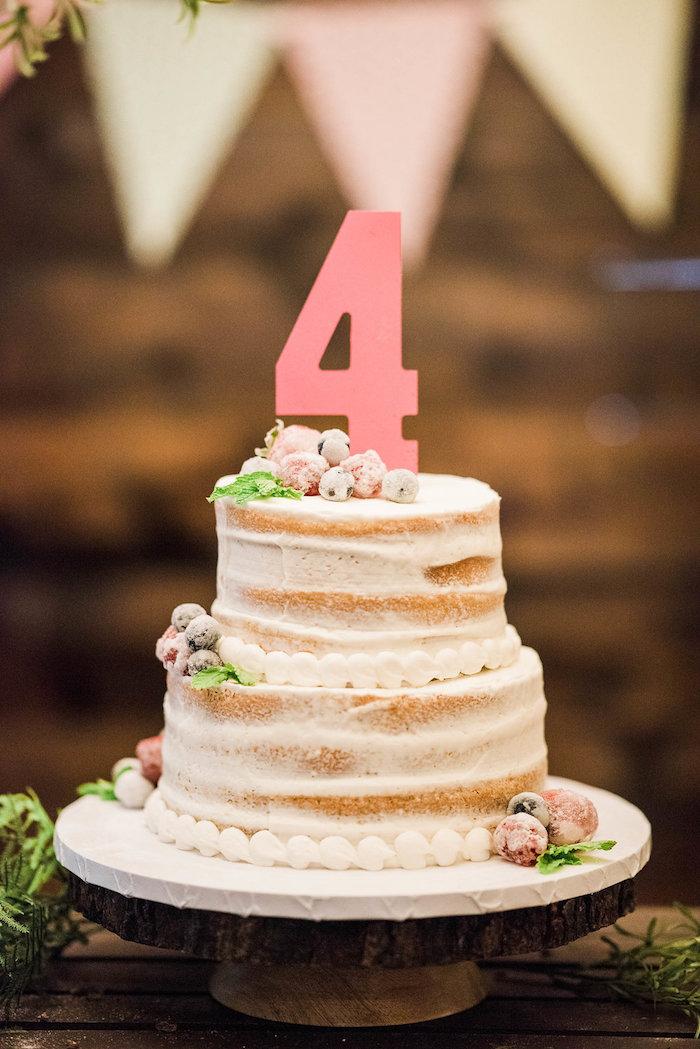 Cake from an Enchanted FOURest Birthday Party on Kara's Party Ideas | KarasPartyIdeas.com (30)