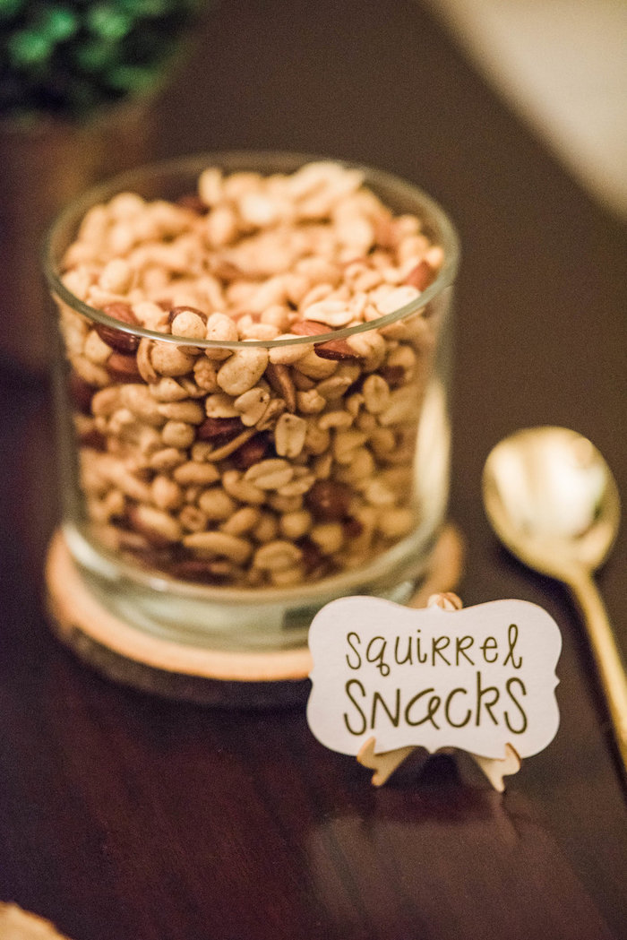Squirrel Snack trail/nut mix from an Enchanted FOURest Birthday Party on Kara's Party Ideas | KarasPartyIdeas.com (28)