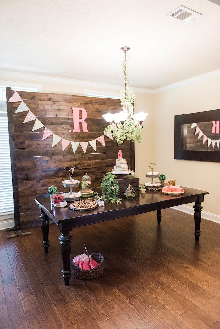 Dessert table from an Enchanted FOURest Birthday Party on Kara's Party Ideas | KarasPartyIdeas.com (25)