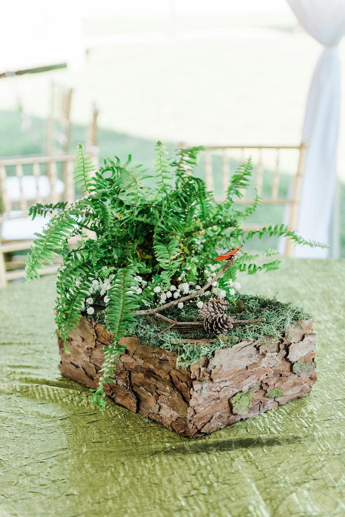 Guest table centerpiece from an Enchanted FOURest Birthday Party on Kara's Party Ideas | KarasPartyIdeas.com (57)