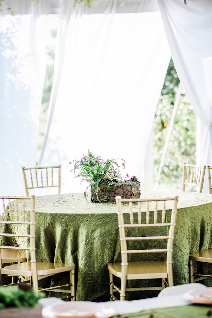 Guest table from an Enchanted FOURest Birthday Party on Kara's Party Ideas | KarasPartyIdeas.com (55)