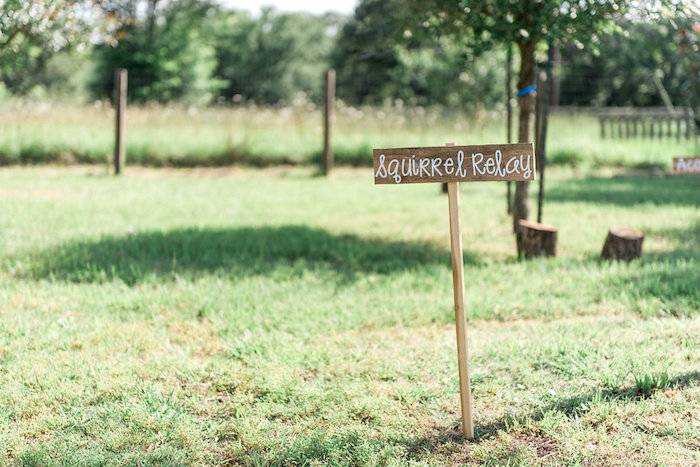 Wooden game sign from an Enchanted FOURest Birthday Party on Kara's Party Ideas | KarasPartyIdeas.com (53)