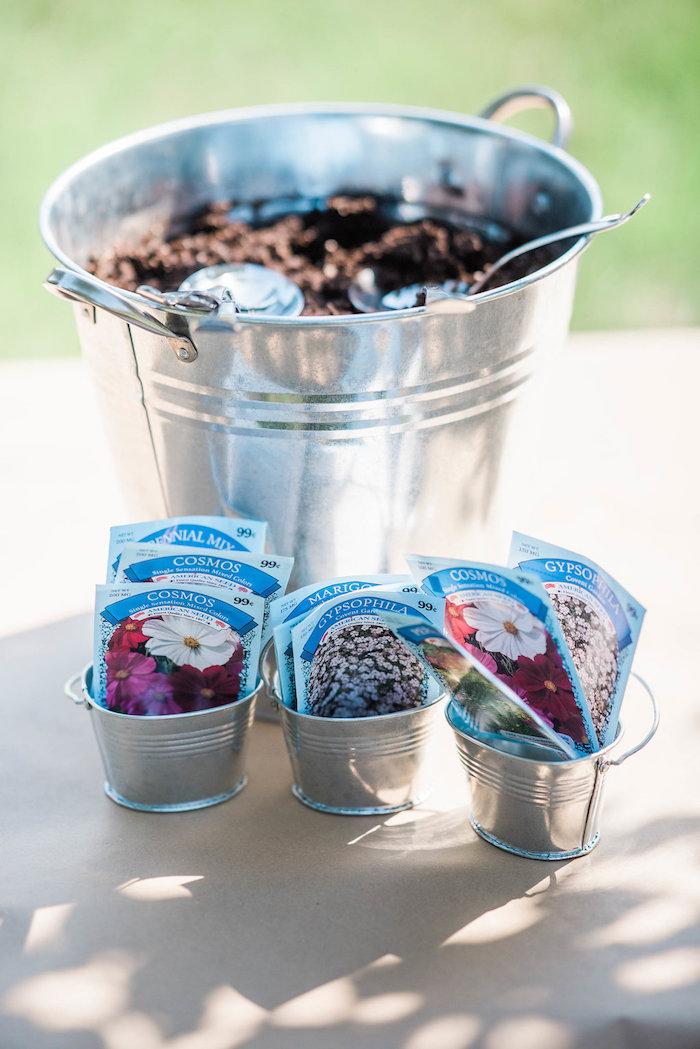 Potting soil & seeds from an Enchanted FOURest Birthday Party on Kara's Party Ideas | KarasPartyIdeas.com (51)