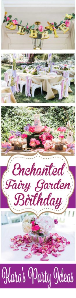 Enchanted Fairy Garden Birthday Party via Kara's Party Ideas