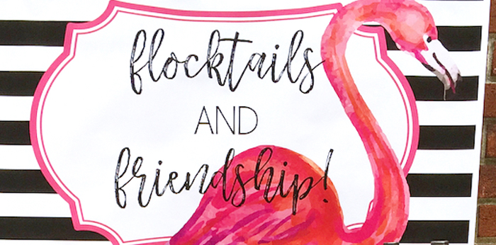 Flocktails and Friendship Flamingo Themed Ladies' Night on Kara's Party Ideas | KarasPartyIdeas.com (3)
