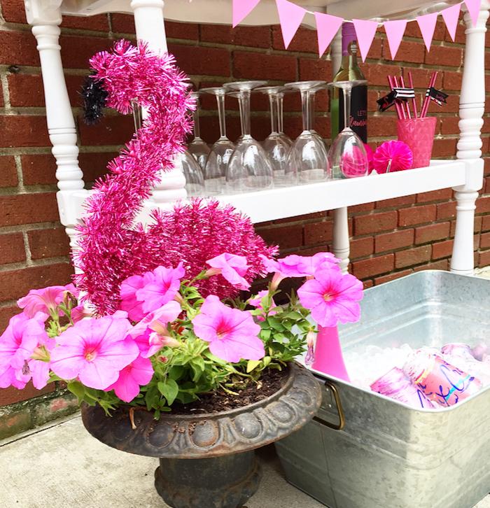 Kara s party ideas flocktails and friendship flamingo