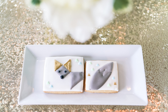 Geometric Fox Cookies from a Geometric Fox Birthday Party on Kara's Party Ideas | KarasPartyIdeas.com (17)
