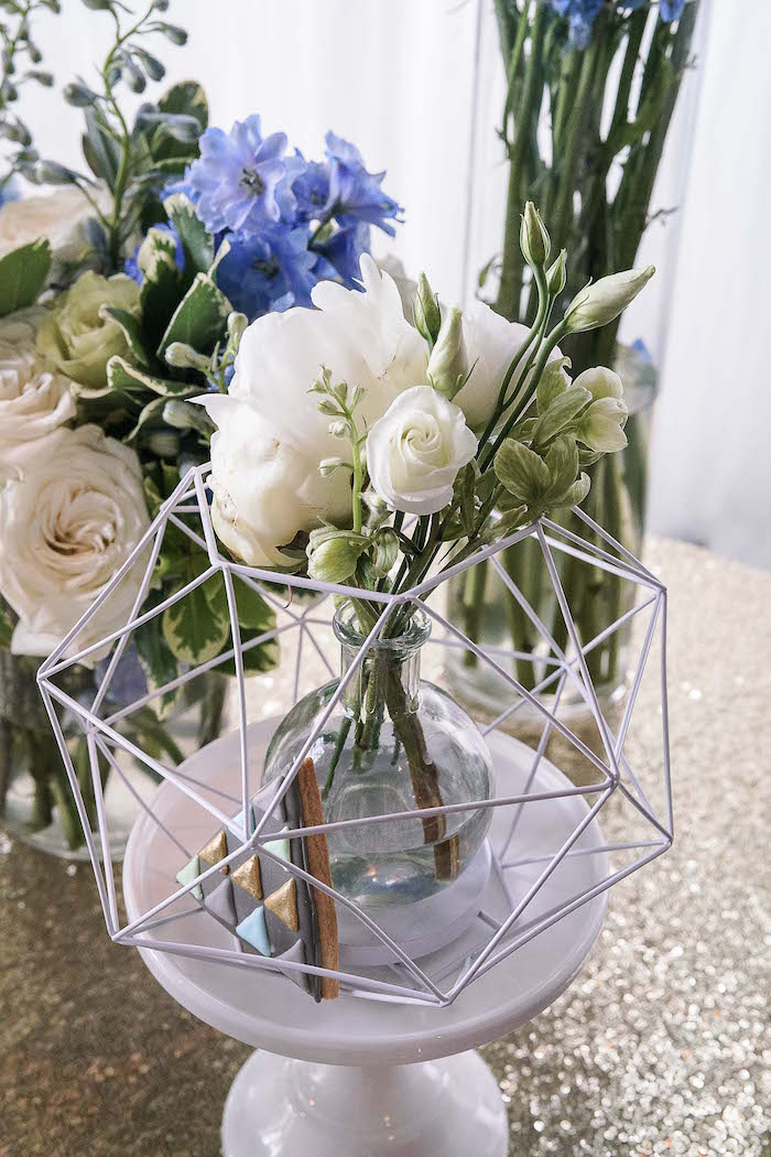 Geometric blooms from a Geometric Fox Birthday Party on Kara's Party Ideas | KarasPartyIdeas.com (12)