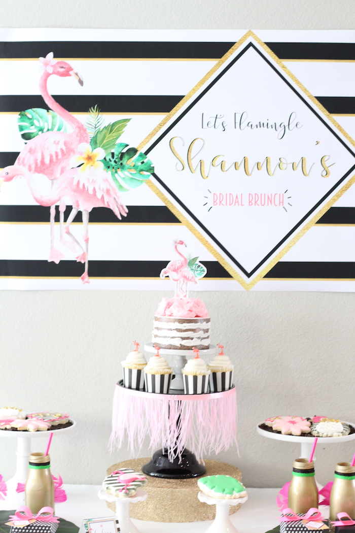 Glam Flamingo Bridal Shower on Kara's Party Ideas | KarasPartyIdeas.com (19)