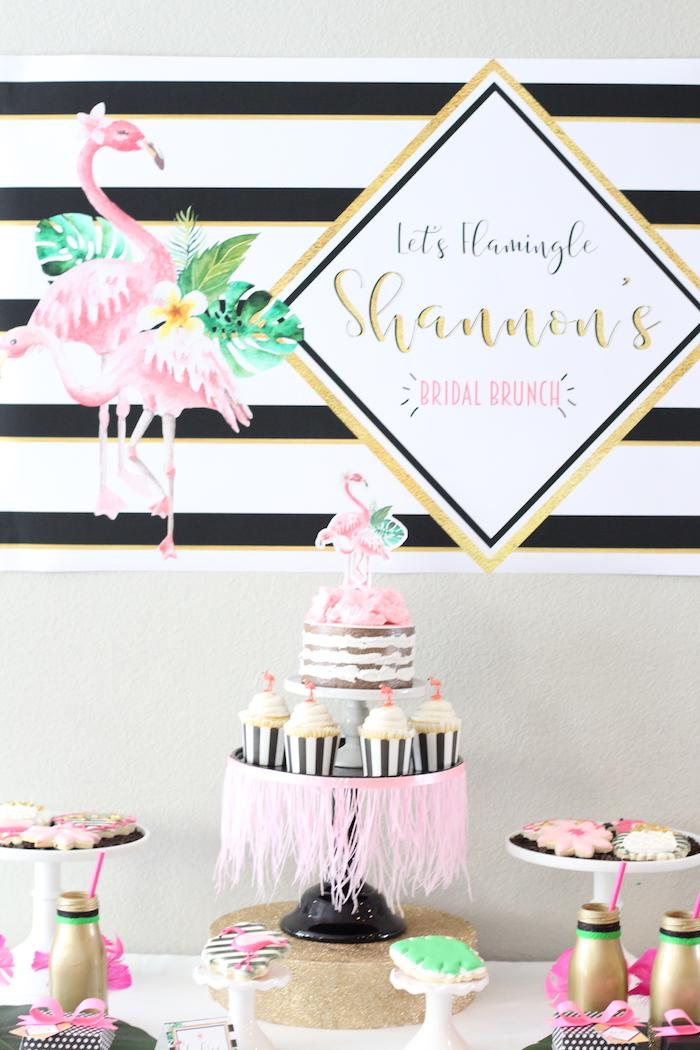 Glam Flamingo Bridal Shower on Kara's Party Ideas   KarasPartyIdeas.com (19)