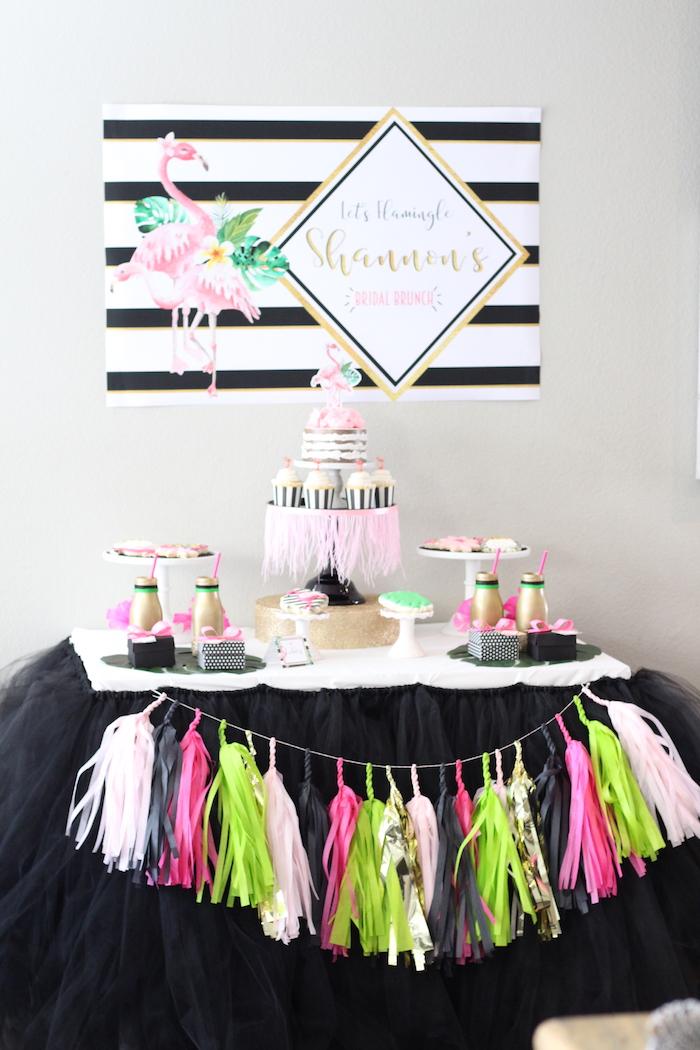 Glam Flamingo Bridal Shower on Kara's Party Ideas   KarasPartyIdeas.com (18)