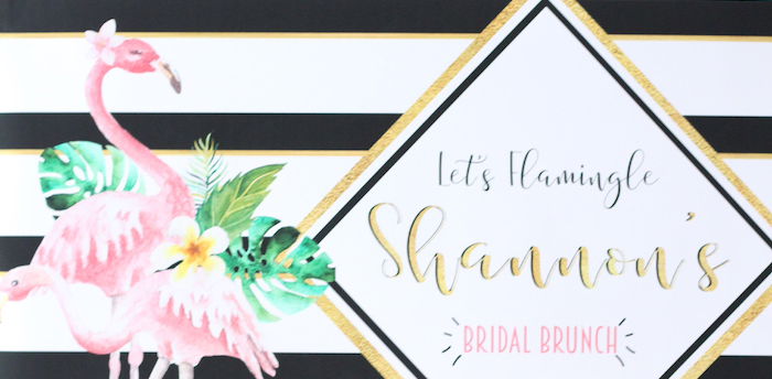 Glam Flamingo Bridal Shower on Kara's Party Ideas | KarasPartyIdeas.com (3)