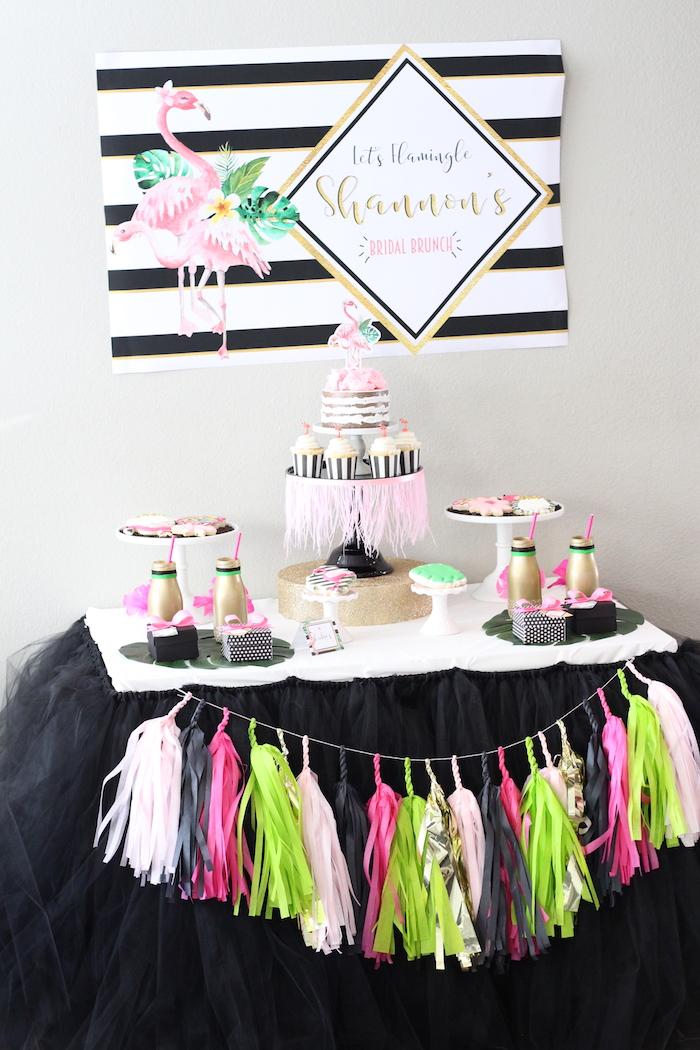 Glam Flamingo Bridal Shower on Kara's Party Ideas   KarasPartyIdeas.com (28)