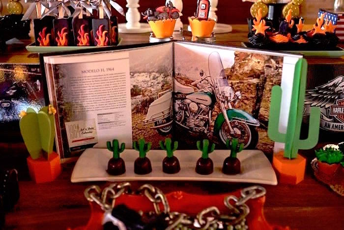 Harley Davidson Birthday Party on Kara's Party Ideas | KarasPartyIdeas.com (15)