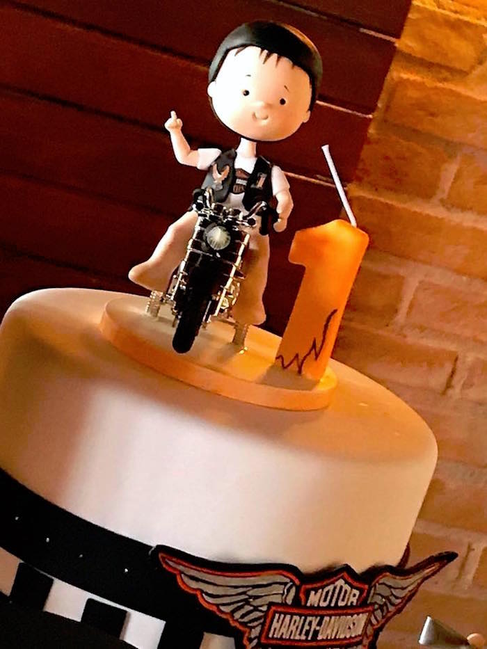 Cake from a Harley Davidson Birthday Party on Kara's Party Ideas | KarasPartyIdeas.com (12)