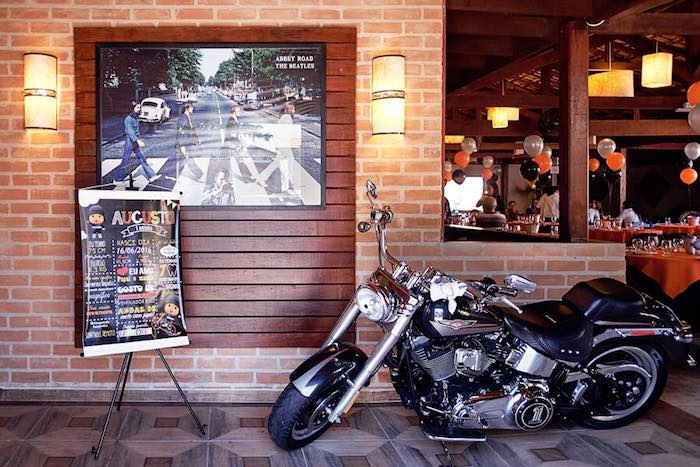 Harley Davidson from a Harley Davidson Birthday Party on Kara's Party Ideas | KarasPartyIdeas.com (5)