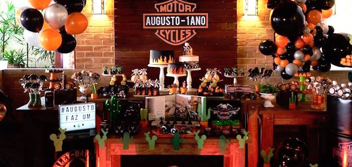 Harley Davidson Birthday Party on Kara's Party Ideas | KarasPartyIdeas.com (4)