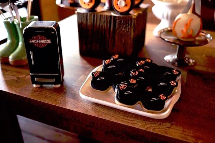 Cookies from a Harley Davidson Birthday Party on Kara's Party Ideas | KarasPartyIdeas.com (22)