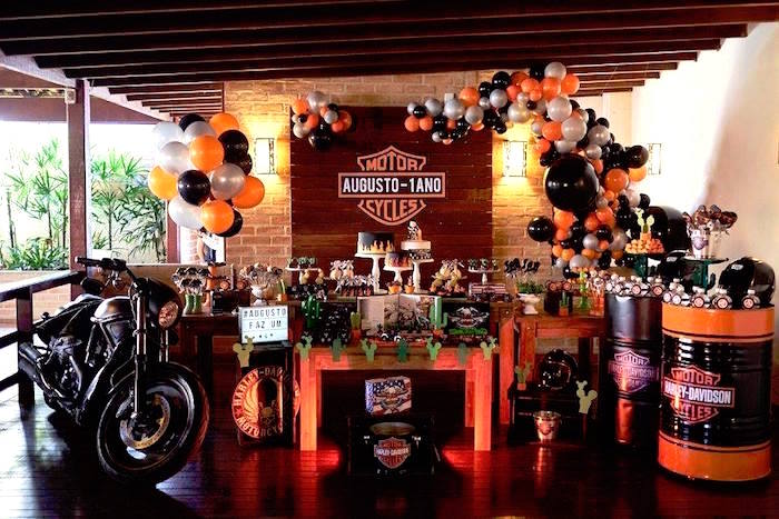 Harley Davidson Birthday Party on Kara's Party Ideas | KarasPartyIdeas.com (18)