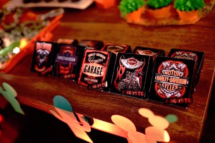 Favors from a Harley Davidson Birthday Party on Kara's Party Ideas | KarasPartyIdeas.com (17)