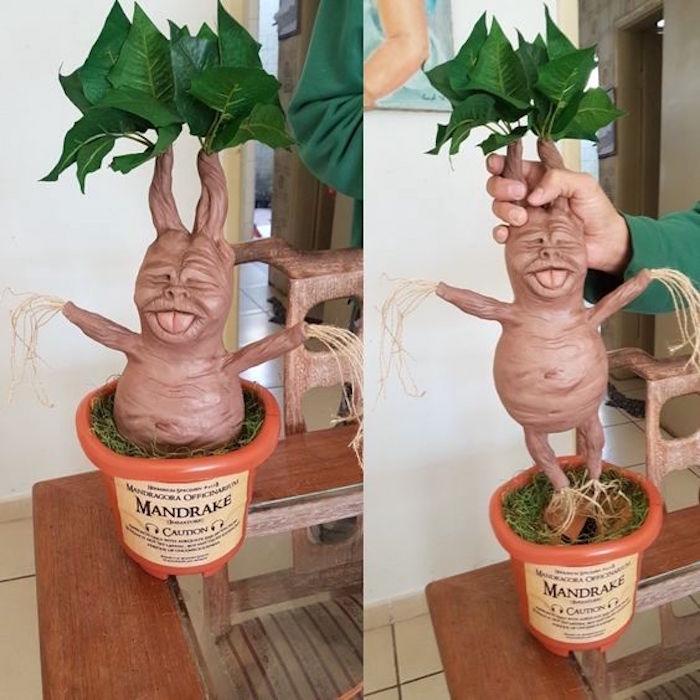 Mandrake Plant from a Hogwarts Harry Potter Birthday Party on Kara's Party Ideas | KarasPartyIdeas.com (24)