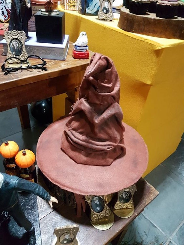 Sorting hat from a Hogwarts Harry Potter Birthday Party on Kara's Party Ideas | KarasPartyIdeas.com (20)