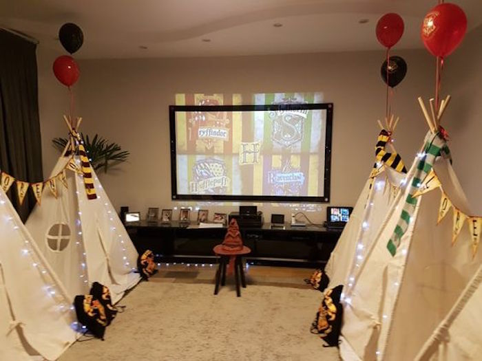 Sorting ceremony from a Hogwarts Harry Potter Birthday Party on Kara's Party Ideas | KarasPartyIdeas.com (19)