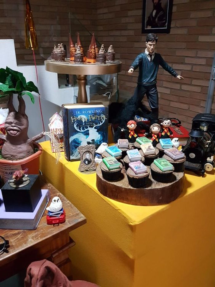 Dessert table detail from a Hogwarts Harry Potter Birthday Party on Kara's Party Ideas | KarasPartyIdeas.com (13)