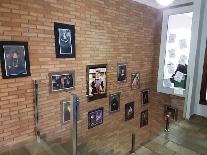 Picture Wall from a Hogwarts Harry Potter Birthday Party on Kara's Party Ideas | KarasPartyIdeas.com (37)