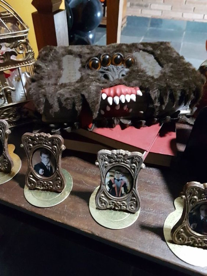 Framed photos from a Hogwarts Harry Potter Birthday Party on Kara's Party Ideas | KarasPartyIdeas.com (34)