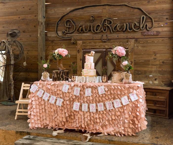 Horse Ranch Cowgirl Birthday Party on Kara's Party Ideas | KarasPartyIdeas.com (19)