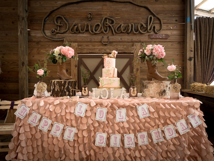 Horse Ranch Cowgirl Birthday Party on Kara's Party Ideas | KarasPartyIdeas.com (17)