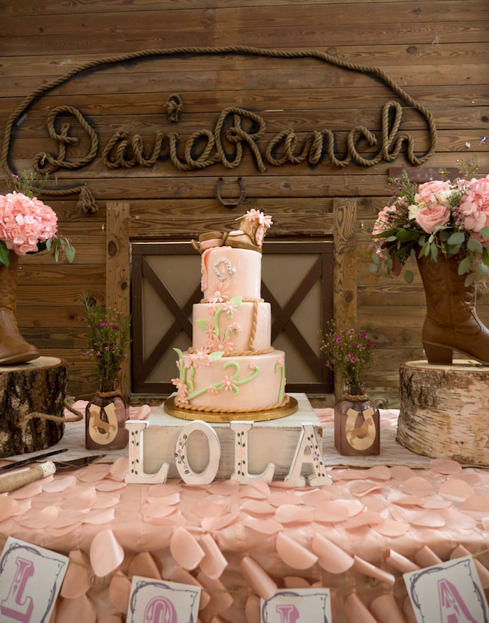 Horse Ranch Cowgirl Birthday Party on Kara's Party Ideas | KarasPartyIdeas.com (16)