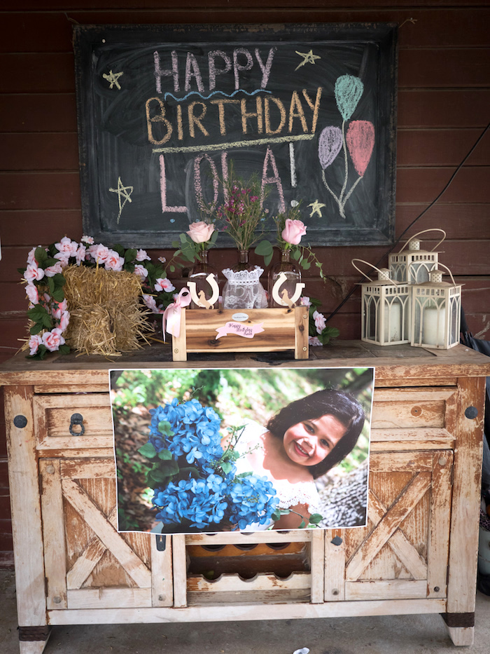 Horse Ranch Cowgirl Birthday Party on Kara's Party Ideas | KarasPartyIdeas.com (7)