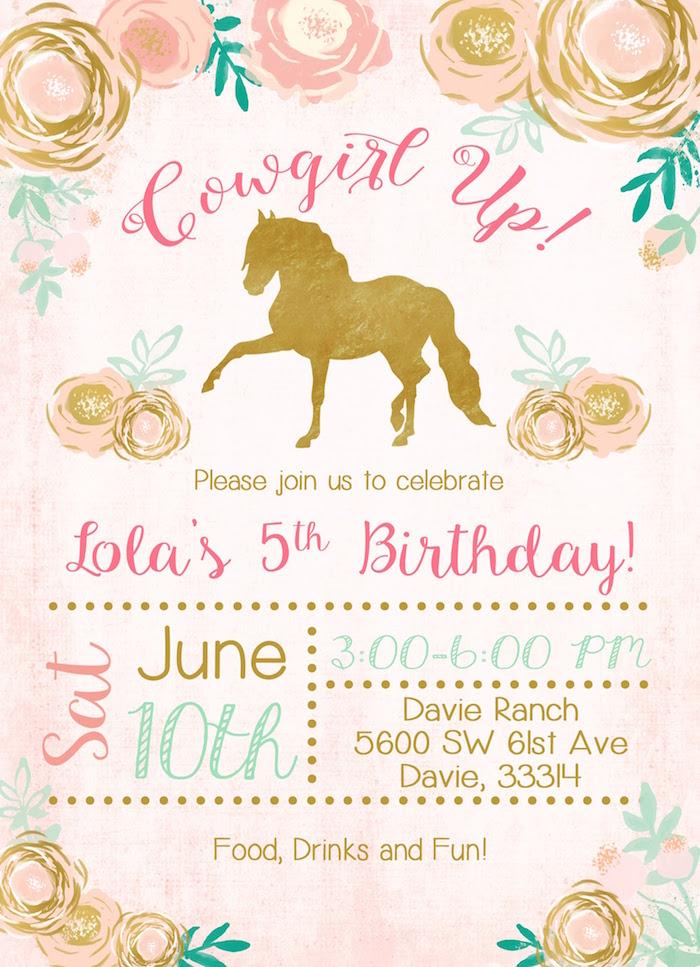 Horse Ranch Cowgirl Birthday Party on Kara's Party Ideas | KarasPartyIdeas.com (4)