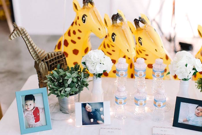 Highlight table from a Little Giraffe Birthday Party on Kara's Party Ideas | KarasPartyIdeas.com (7)