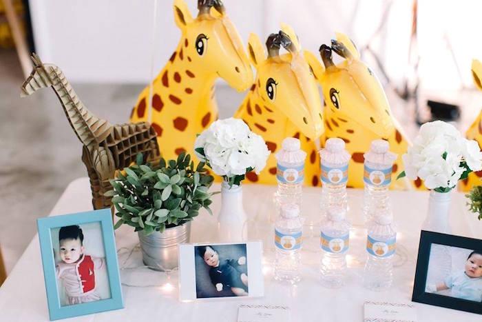 Highlight table from a Little Giraffe Birthday Party on Kara's Party Ideas | KarasPartyIdeas.com (7)