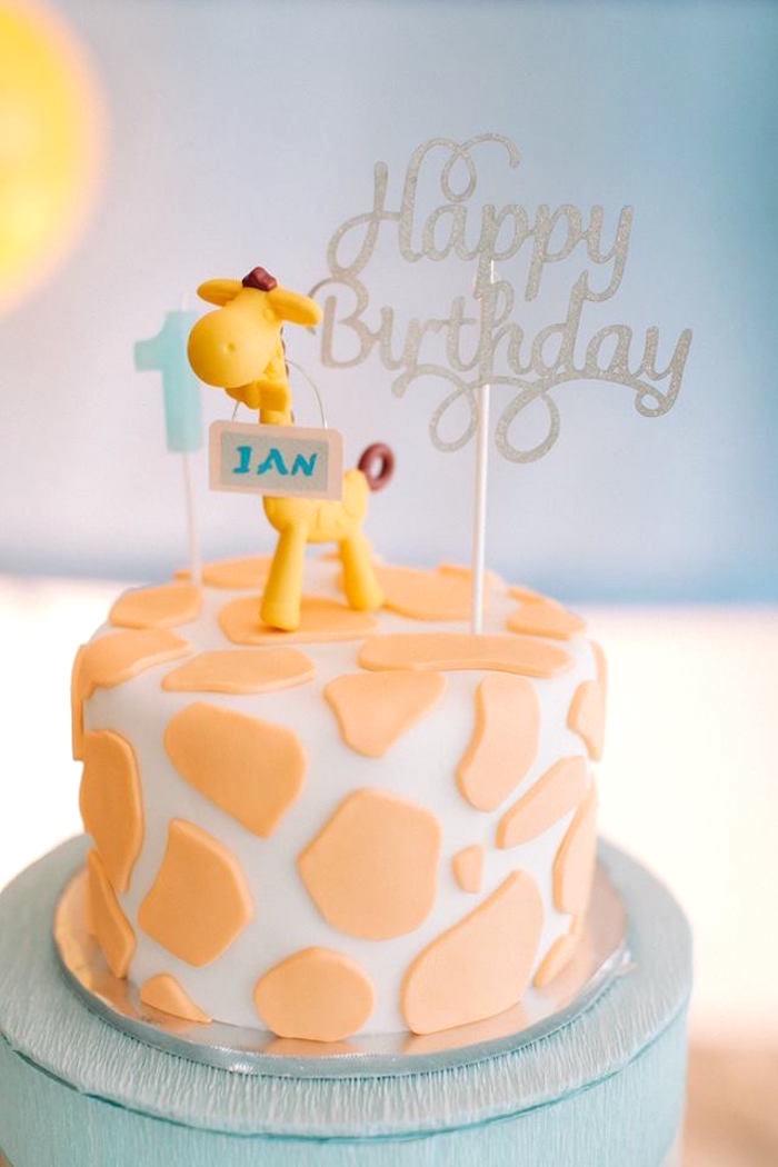 Giraffe Cake from a Little Giraffe Birthday Party on Kara's Party Ideas | KarasPartyIdeas.com (6)