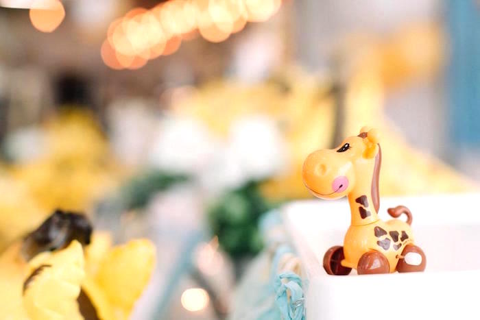 Giraffe toy from a Little Giraffe Birthday Party on Kara's Party Ideas | KarasPartyIdeas.com (5)