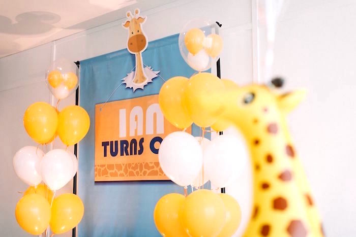 Signage from a Little Giraffe Birthday Party on Kara's Party Ideas | KarasPartyIdeas.com (4)