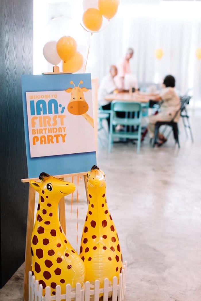 Giraffe signage from a Little Giraffe Birthday Party on Kara's Party Ideas | KarasPartyIdeas.com (22)