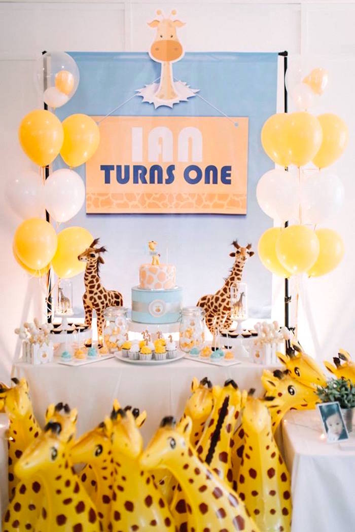 Little Giraffe Birthday Party on Kara's Party Ideas | KarasPartyIdeas.com (20)