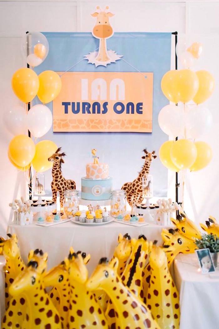 Little Giraffe Birthday Party on Kara's Party Ideas | KarasPartyIdeas.com (20)